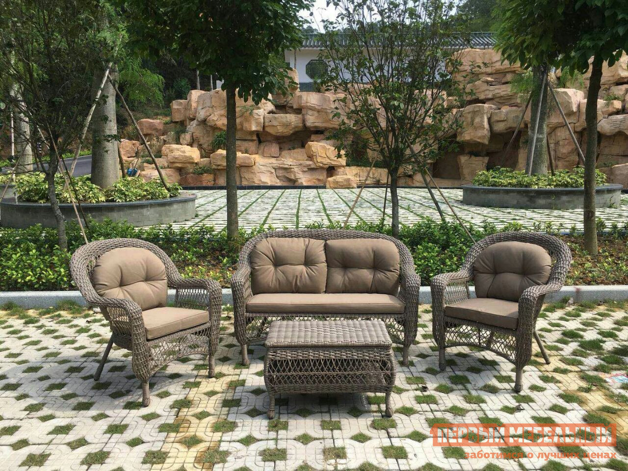 Комплект плетеной мебели Афина-мебель LV520