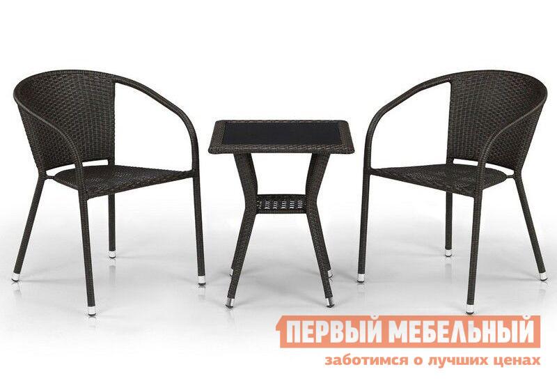 Комплект плетеной мебели из искусственного ротанга Афина-мебель T25A/Y137C-W53 / T25B/Y137C-W56 2Pcs комплект плетеной мебели афина мебель т300а y300а w53