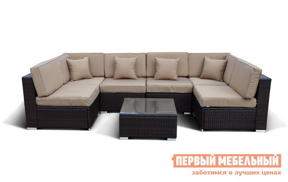 Комплект плетеной мебели Афина-мебель YR822-W53 комплект плетеной мебели из искусственного ротанга афина мебель t198a s54a w53 t198b s54b w56