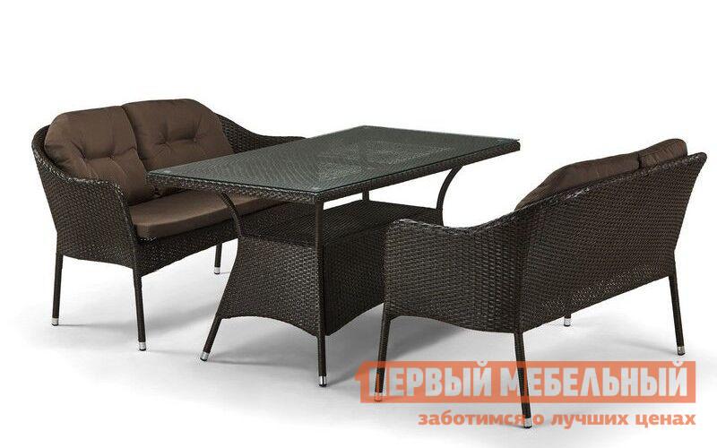 Комплект плетеной мебели из искусственного ротанга Афина-мебель T198A/S54A-W53 / T198B/S54B-W56 комплект плетеной мебели афина мебель т300а y300а w53
