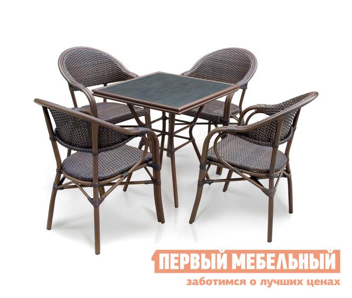 Комплект плетеной мебели Афина-мебель A1016-D2003SR-4PCS