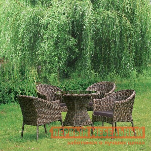 Комплект плетеной мебели из искусственного ротанга Афина-мебель RT-A52 4Pcs комплект плетеной мебели афина мебель т300а y300а w53