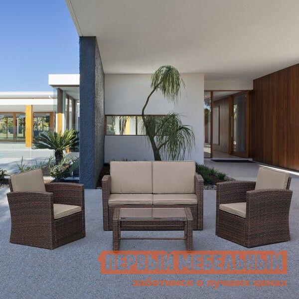 Комплект плетеной мебели Афина-мебель AFM-4020B Brown
