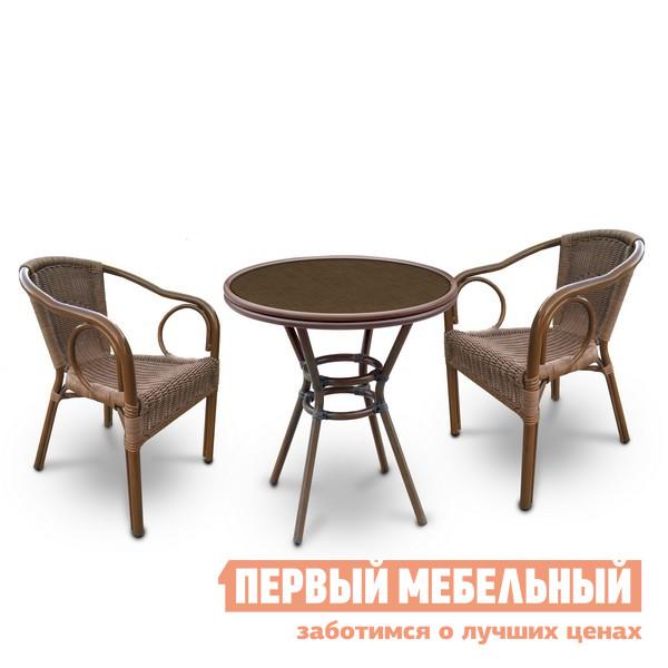 Комплект плетеной мебели для сада Афина-мебель А1007-А2010