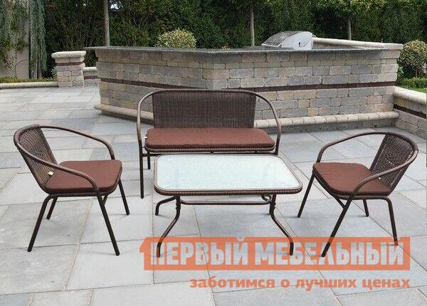Комплект плетеной мебели Афина-мебель TLH-037/037D/40S серебряное кольцо ювелирное изделие 106235