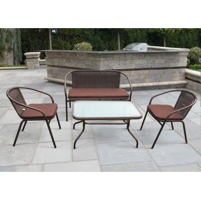 Комплект плетеной мебели Афина-мебель TLH-037/037D/40S Орех