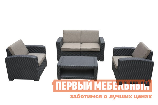 Комплект плетеной мебели Афина-мебель AFM-2017B комплект плетеной мебели афина мебель lv130 brown beige