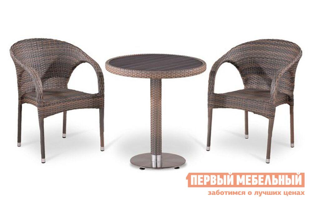 Комплект плетеной мебели из искусственного ротанга Афина-мебель T501DG/Y290BG-W1289 2Pcs комплект плетеной мебели из искусственного ротанга афина мебель t601g y375g w1289 2pcs