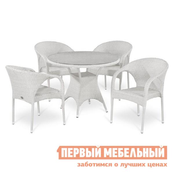Комплект садовой плетеной мебели Афина-мебель T220CW-Y290W-W2 комплект плетеной мебели афина мебель lv130 brown beige