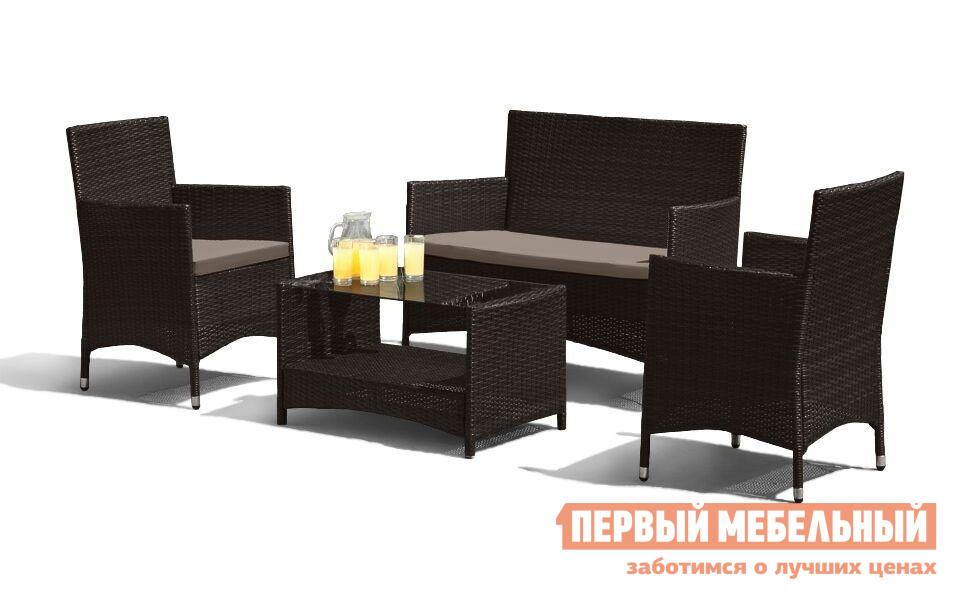 Комплект плетеной мебели из искусственного ротанга Афина-мебель AFM-2025B / AFM-2025G комплект плетеной мебели афина мебель lv130 brown beige
