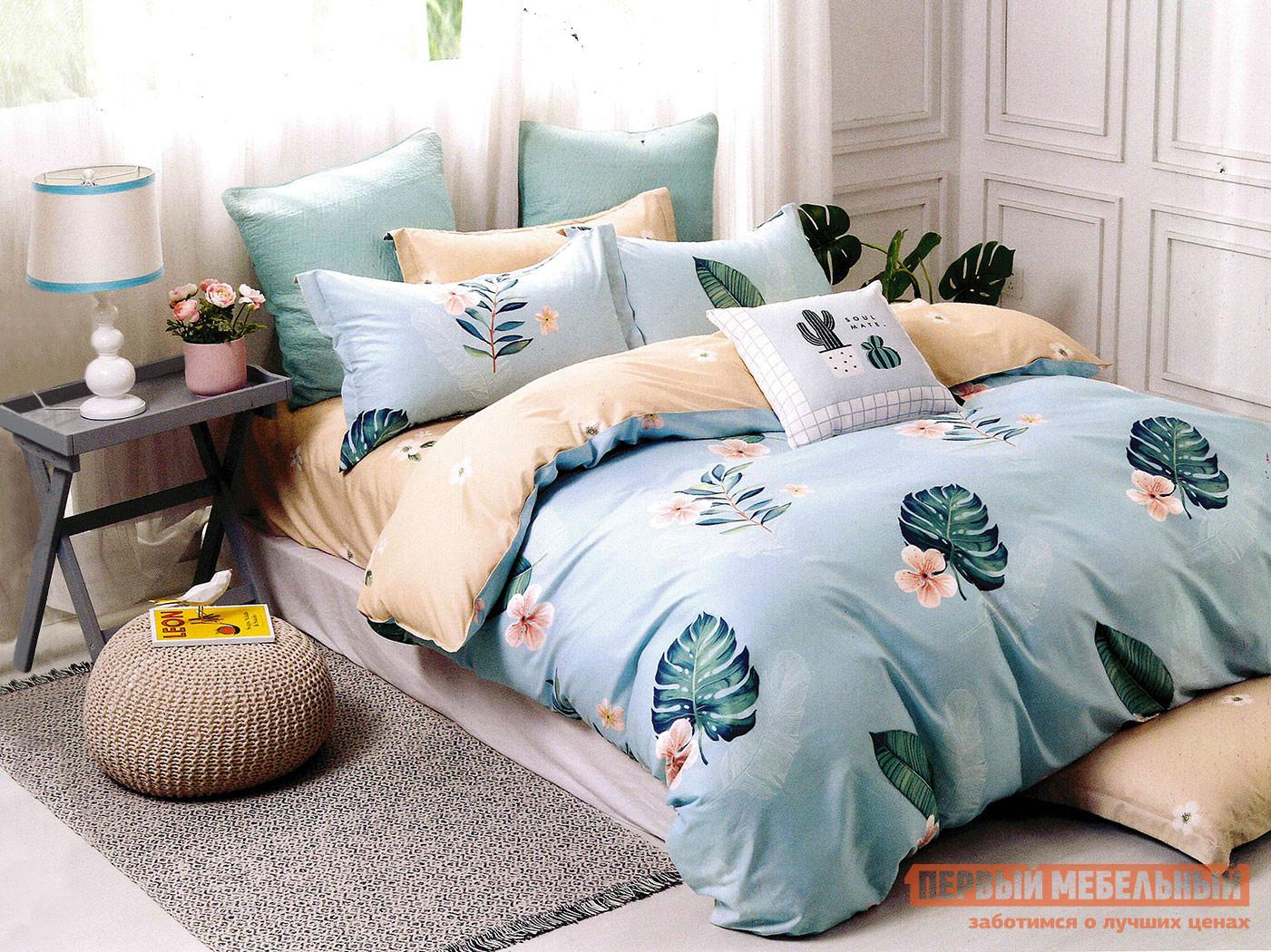Комплект постельного белья КПБ Butterfly Сатин 3012 3012, сатин, Евро фото