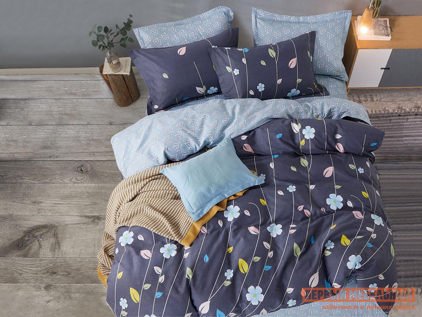 Комплект постельного белья КПБ Butterfly Сатин 157 157, сатин, Евро фото