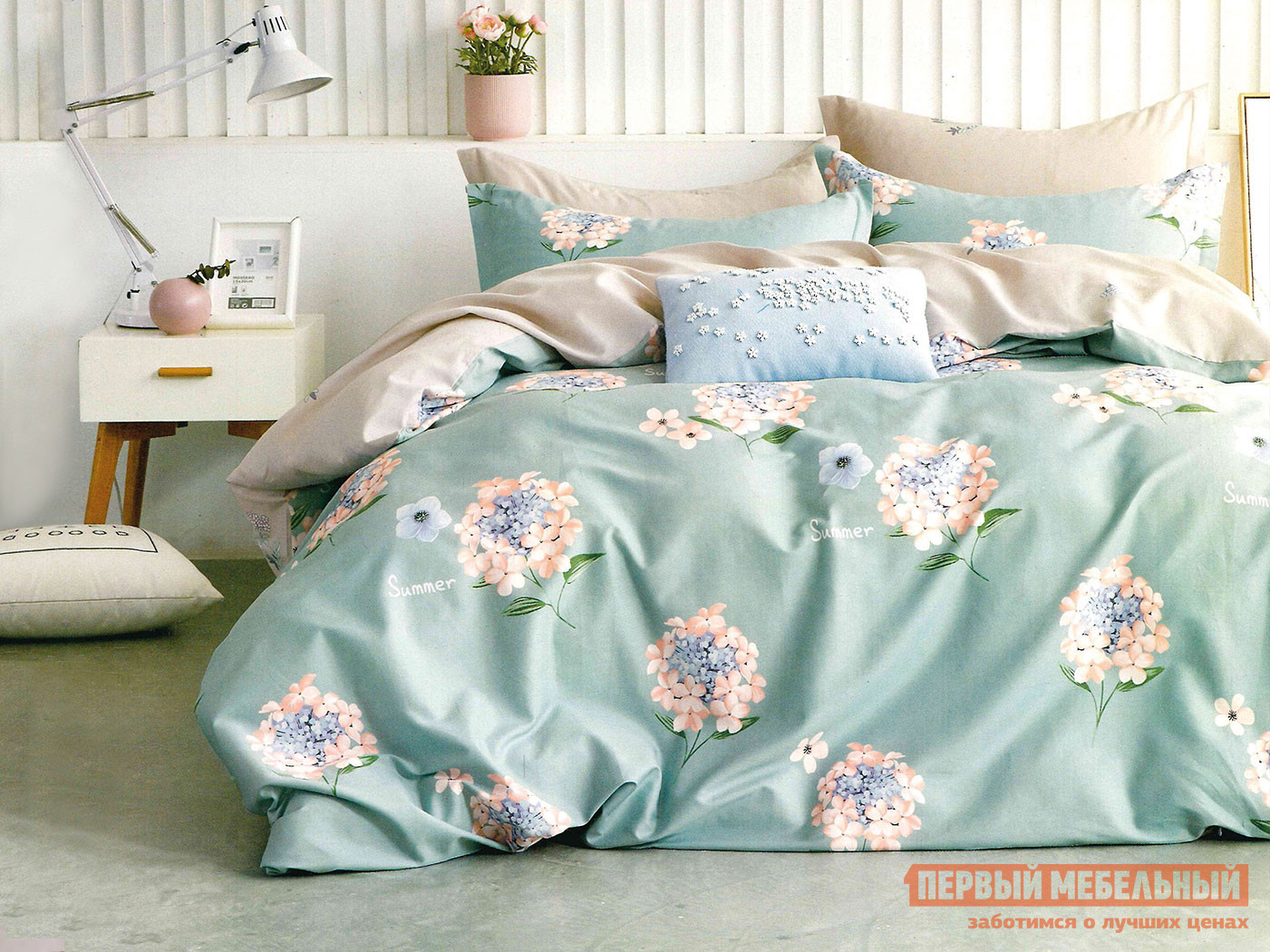 Комплект постельного белья КПБ Butterfly Сатин 3040 3040, сатин, Евро фото