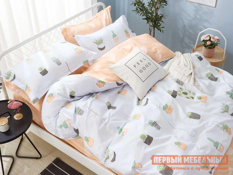 Фото - Комплект постельного белья Первый Мебельный КПБ сатин Основа Снов белый, растения комплект постельного белья первый мебельный кпб сатин основа снов