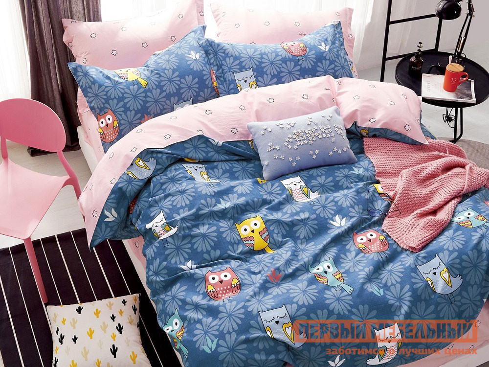 Комплект постельного белья  КПБ сатин 1,5 сп. Д43(1,5) Д43, Яньтекс 117076
