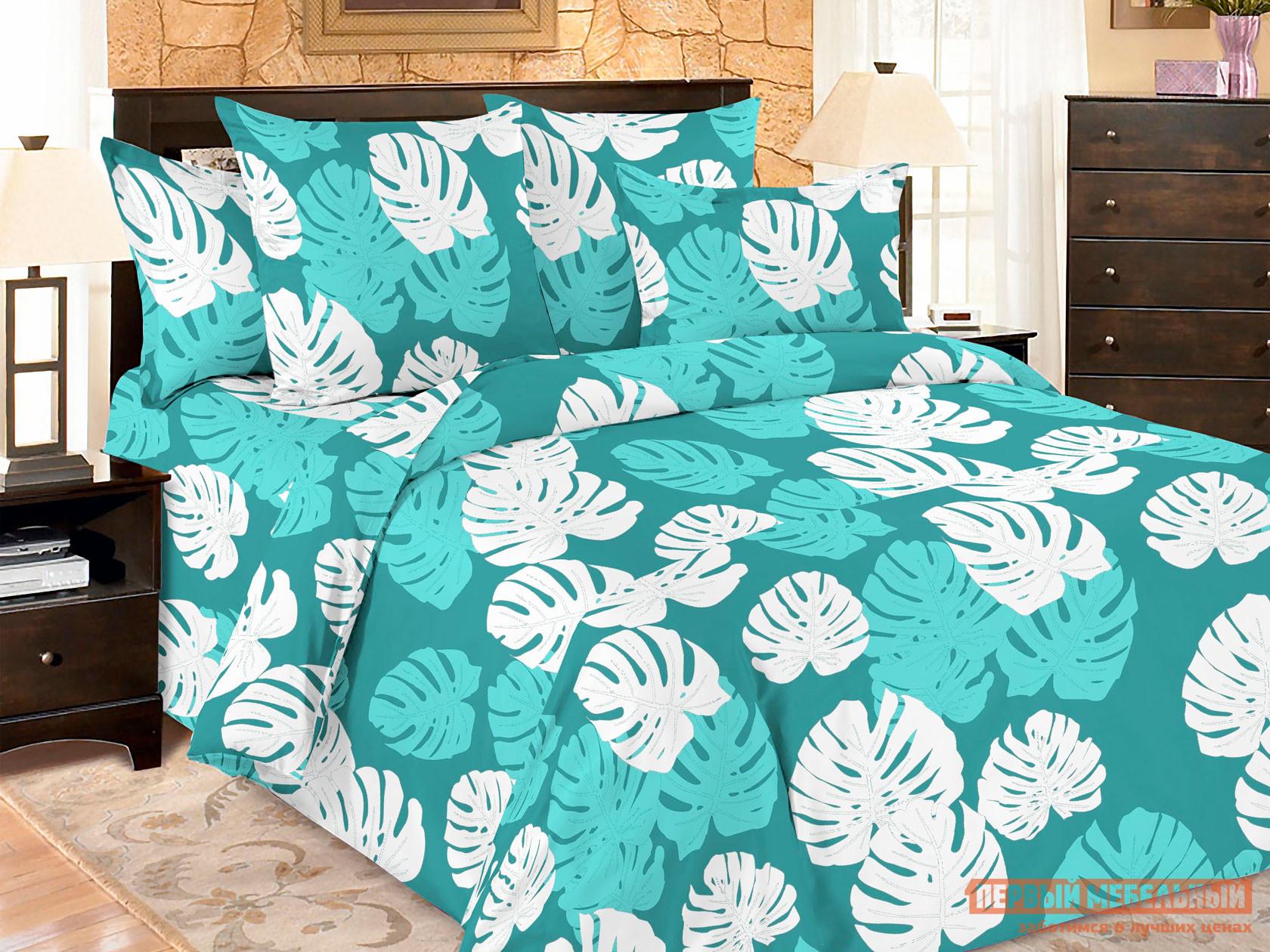 Комплект постельного белья  КПБ Amore Mio BZ Leaves Ливс, микрофибра, Полутороспальный