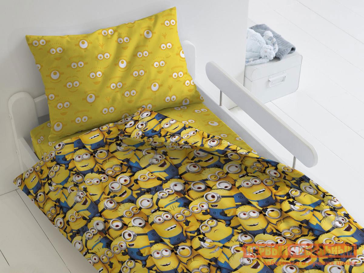 Фото - Комплект постельного белья Первый Мебельный КПБ Миньоны Миньоны, 1,5 сп. (70х70) комплект постельного белья первый мебельный кпб миньоны миньоны 1 5 сп 70х70