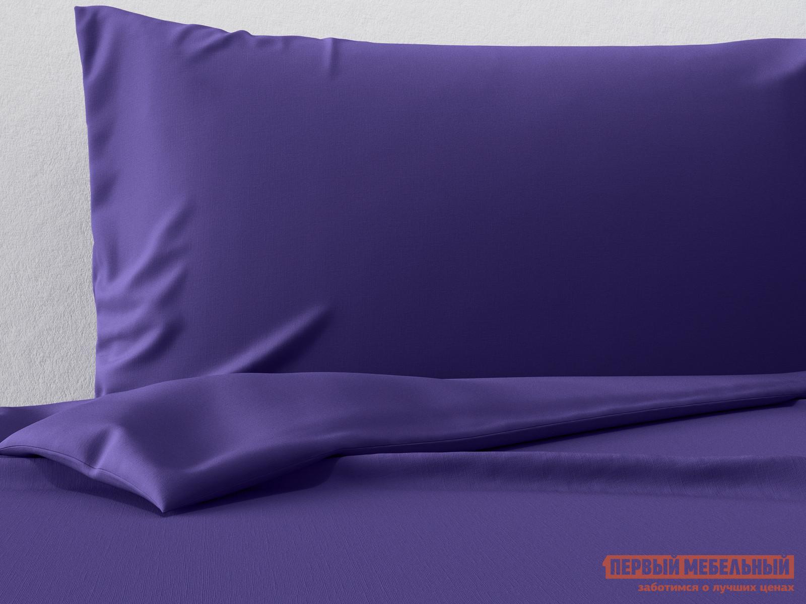 Фото - Комплект постельного белья Первый Мебельный КПБ сатин однотонный (фиолетовый ОСНОВА СНОВ) комплект постельного белья первый мебельный кпб сатин основа снов