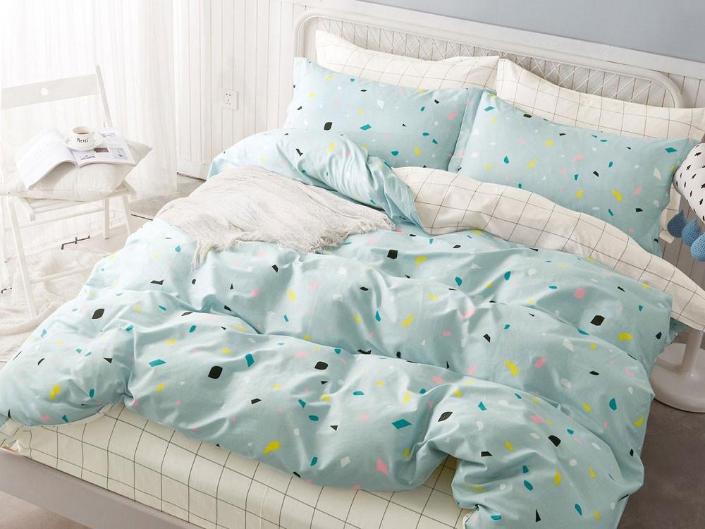 Комплект постельного белья  КПБ сатин С28 С28, сатин, Двуспальный Яньтекс 125460