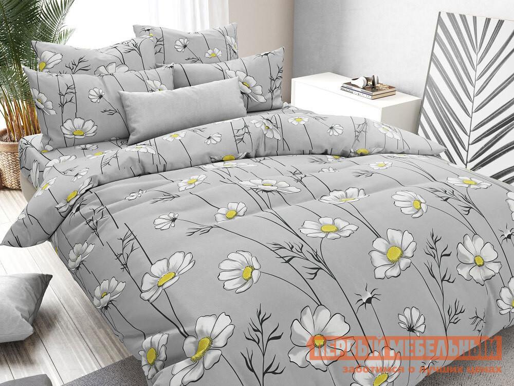 Комплект постельного белья Первый Мебельный КПБ бязь ромашки