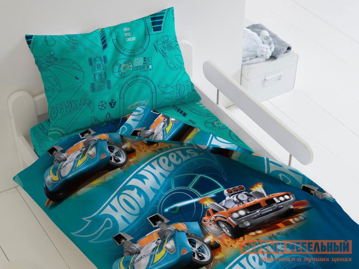 Фото - Комплект постельного белья Первый Мебельный КПБ Hot Wheels Скорость, 1,5 сп. (70х70) комплект постельного белья первый мебельный кпб миньоны миньоны 1 5 сп 70х70