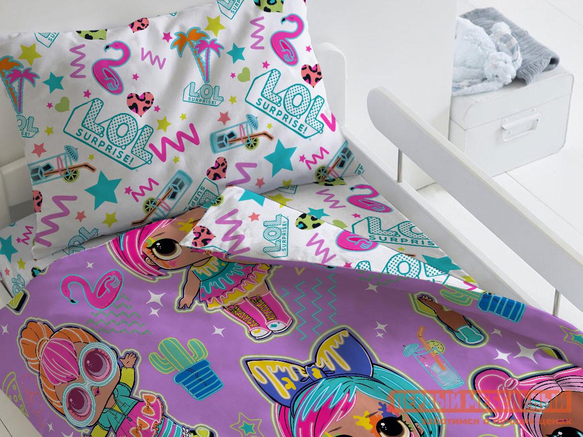 Фото - Комплект постельного белья Первый Мебельный КПБ LOL Surprise! Glow, 1,5 сп. (50х70) комплект постельного белья первый мебельный кпб миньоны миньоны 1 5 сп 70х70