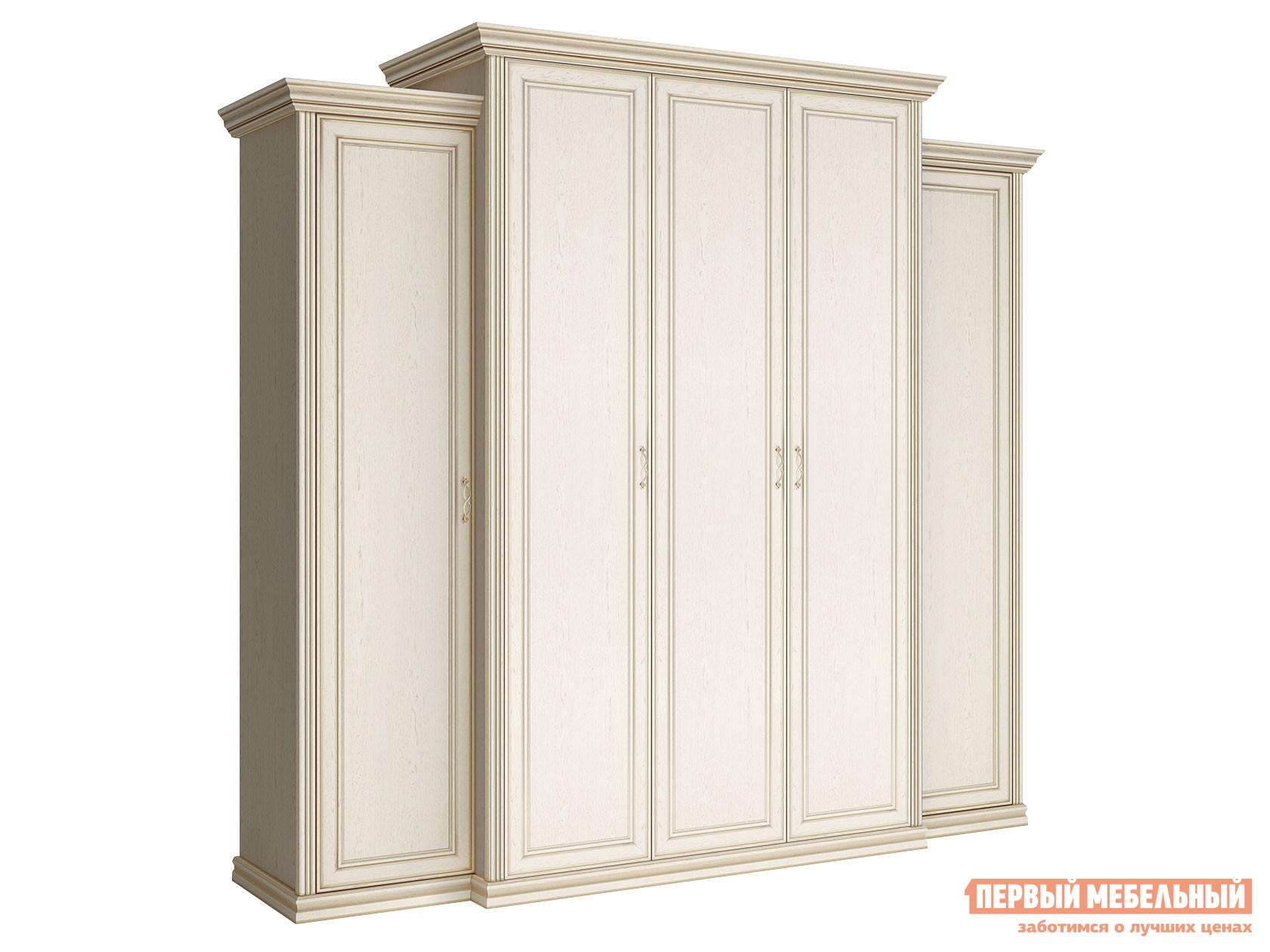 Распашной шкаф Первый Мебельный Шкаф 5-ти дверный с пеналами глухой Венето недорого
