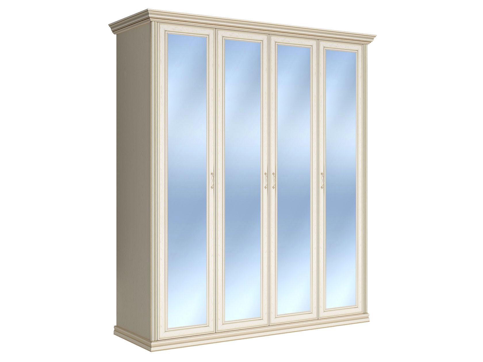 Распашной шкаф Первый Мебельный Шкаф 4-х дверный с зеркалами Венето недорого