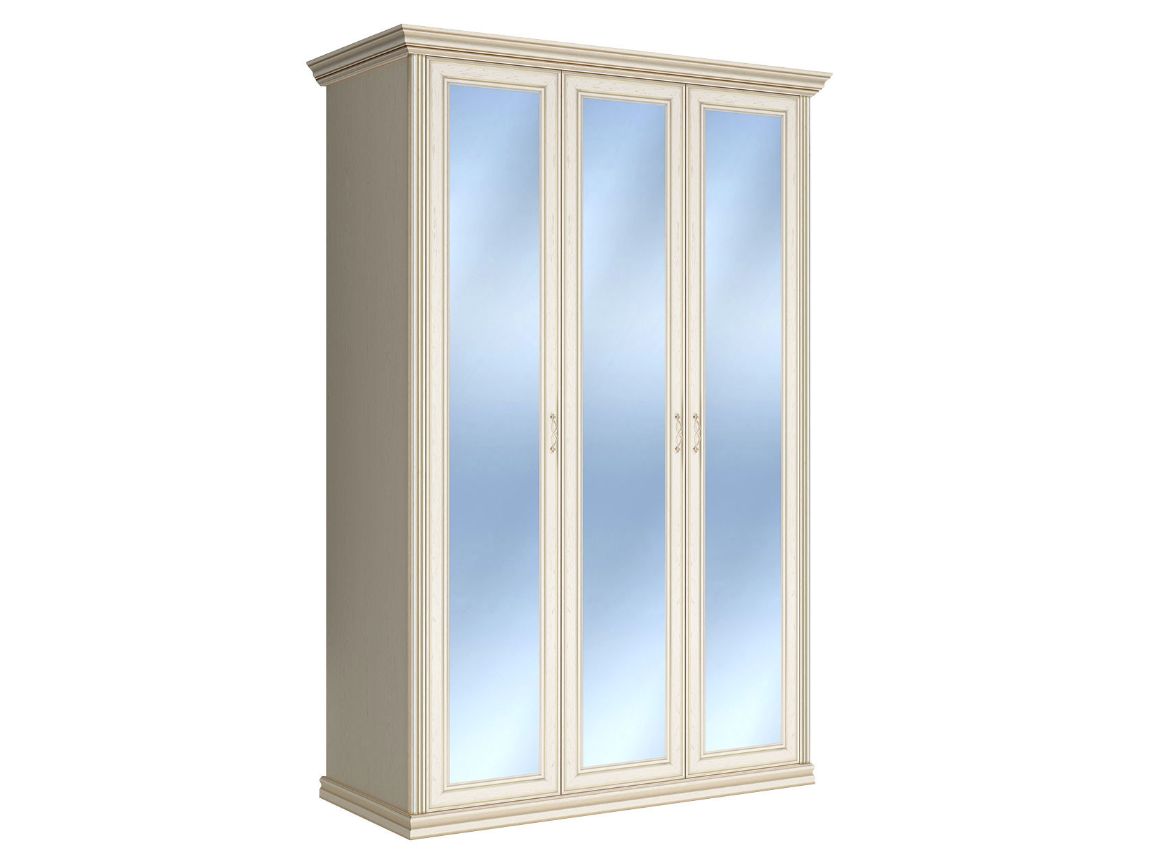 Распашной шкаф Первый Мебельный Шкаф 3-х дверный с зеркалами Венето недорого