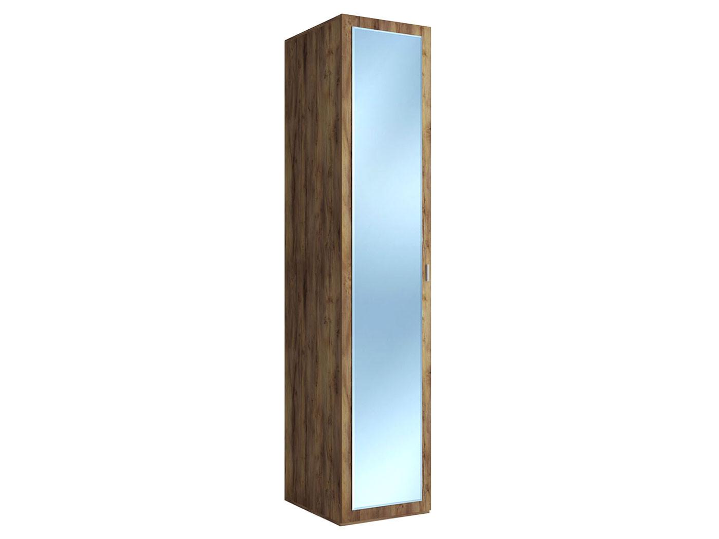 Распашной шкаф  Шкаф-пенал Вега Бавария Таксония медовая, С зеркалом КУРАЖ 104569