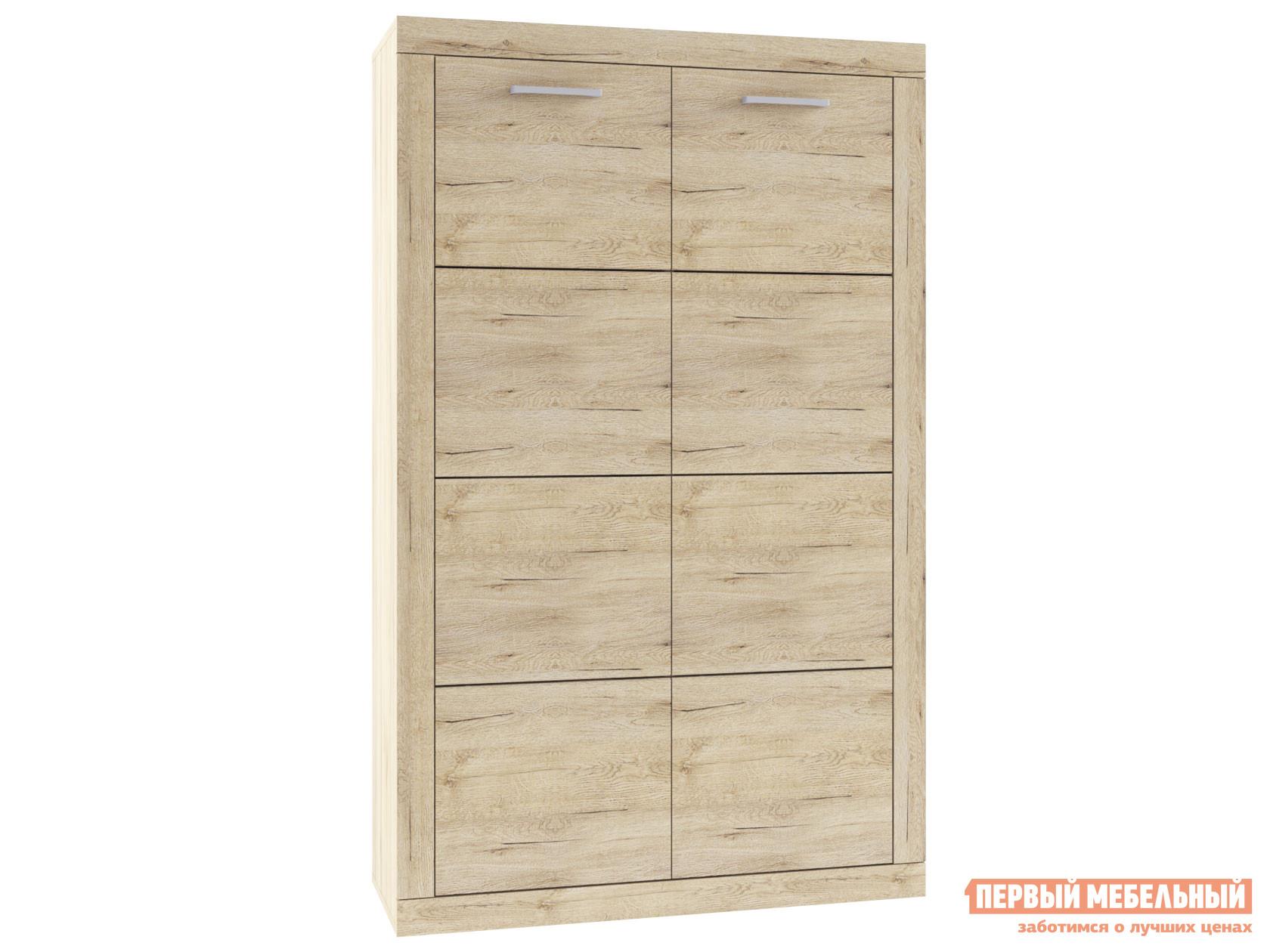 Шкаф распашной Первый Мебельный Шкаф 2-х створчатый низкий Оскар