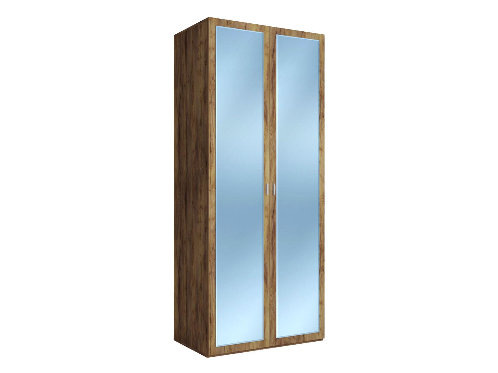 Распашной шкаф  2-х дверный Вега Бавария Таксония медовая, С зеркалом КУРАЖ 104769