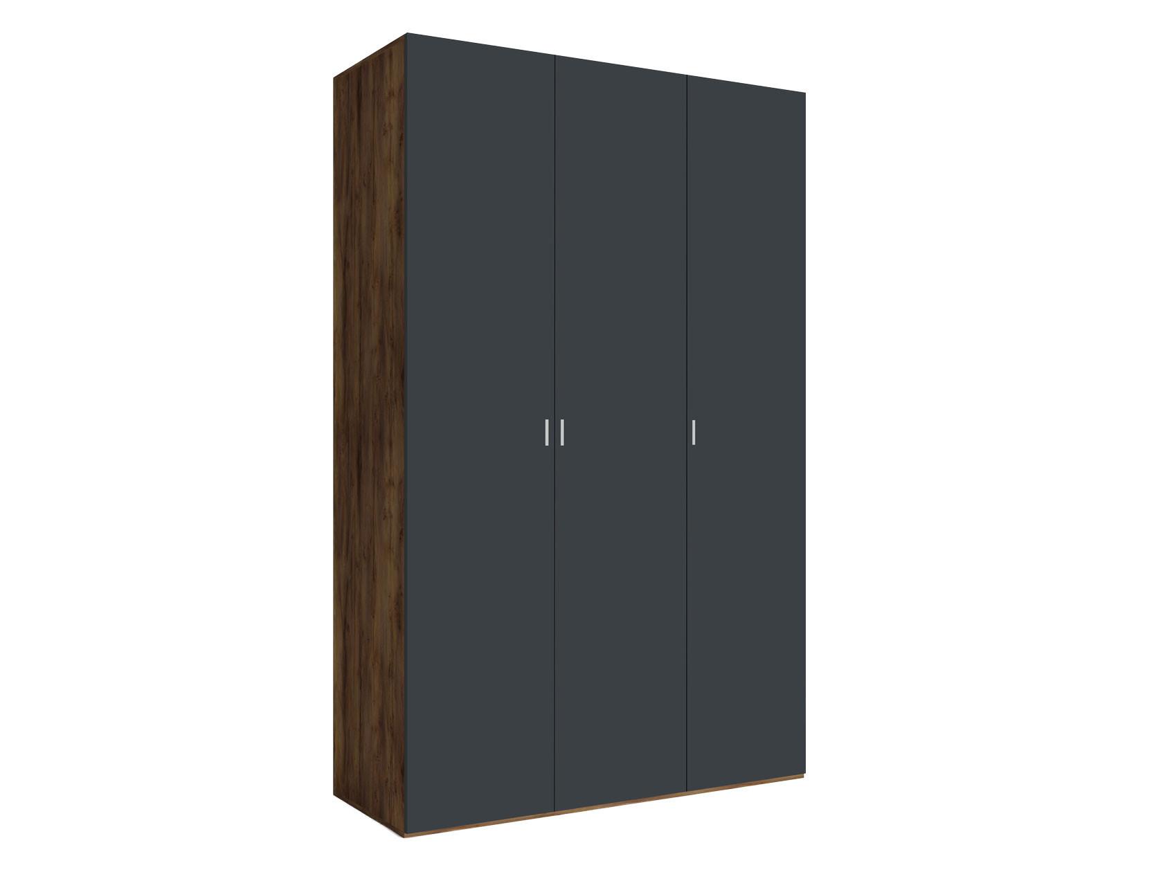 Распашной шкаф  3-х дверный Вега Бавария Таксония медовая / Антрацит, Без зеркала, топа-накладки КУРАЖ 104968