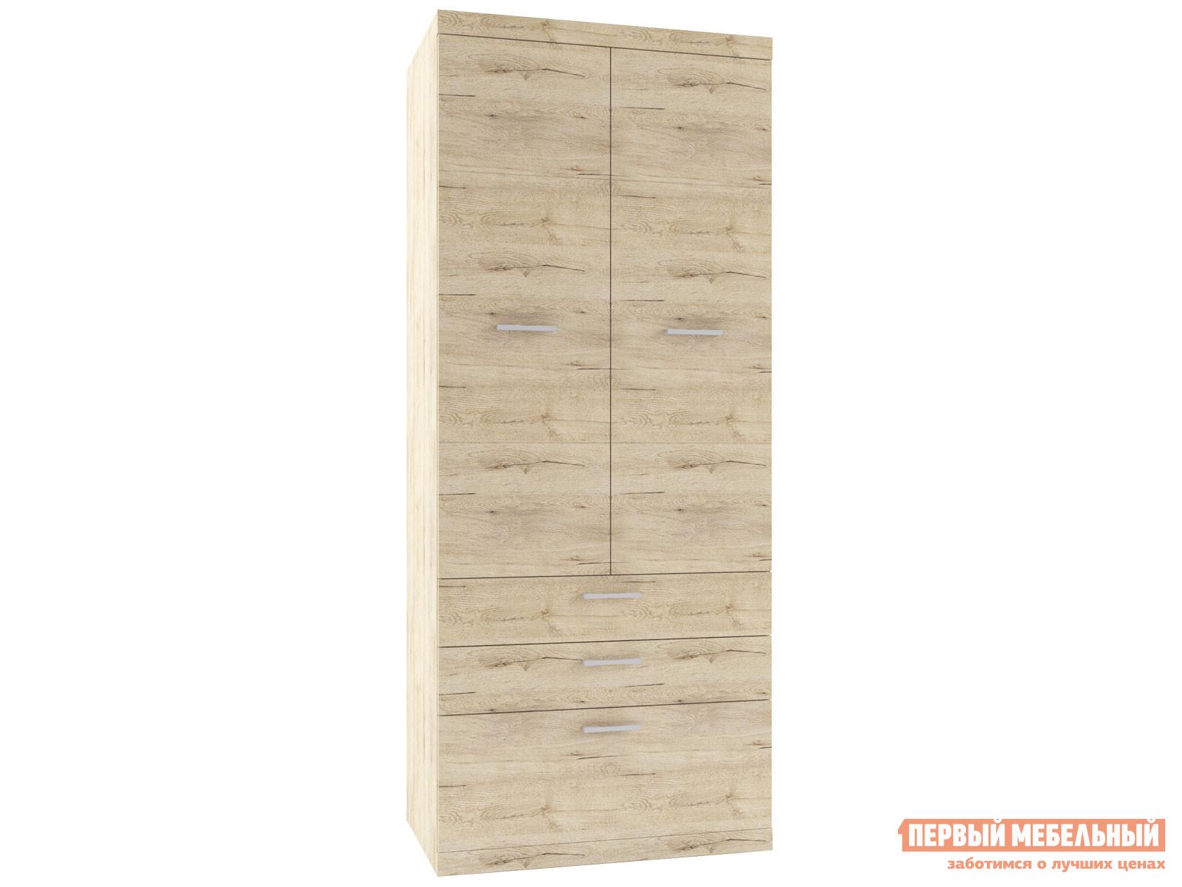 Шкаф распашной Первый Мебельный 2-х створчатый с ящиками Оскар