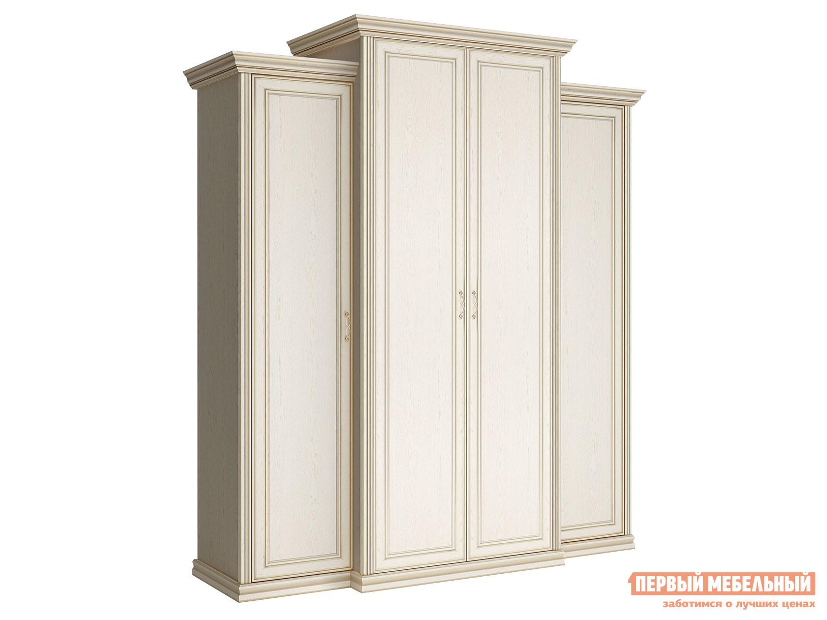 Распашной шкаф Первый Мебельный Шкаф 4-х дверный с пеналами глухой Венето недорого