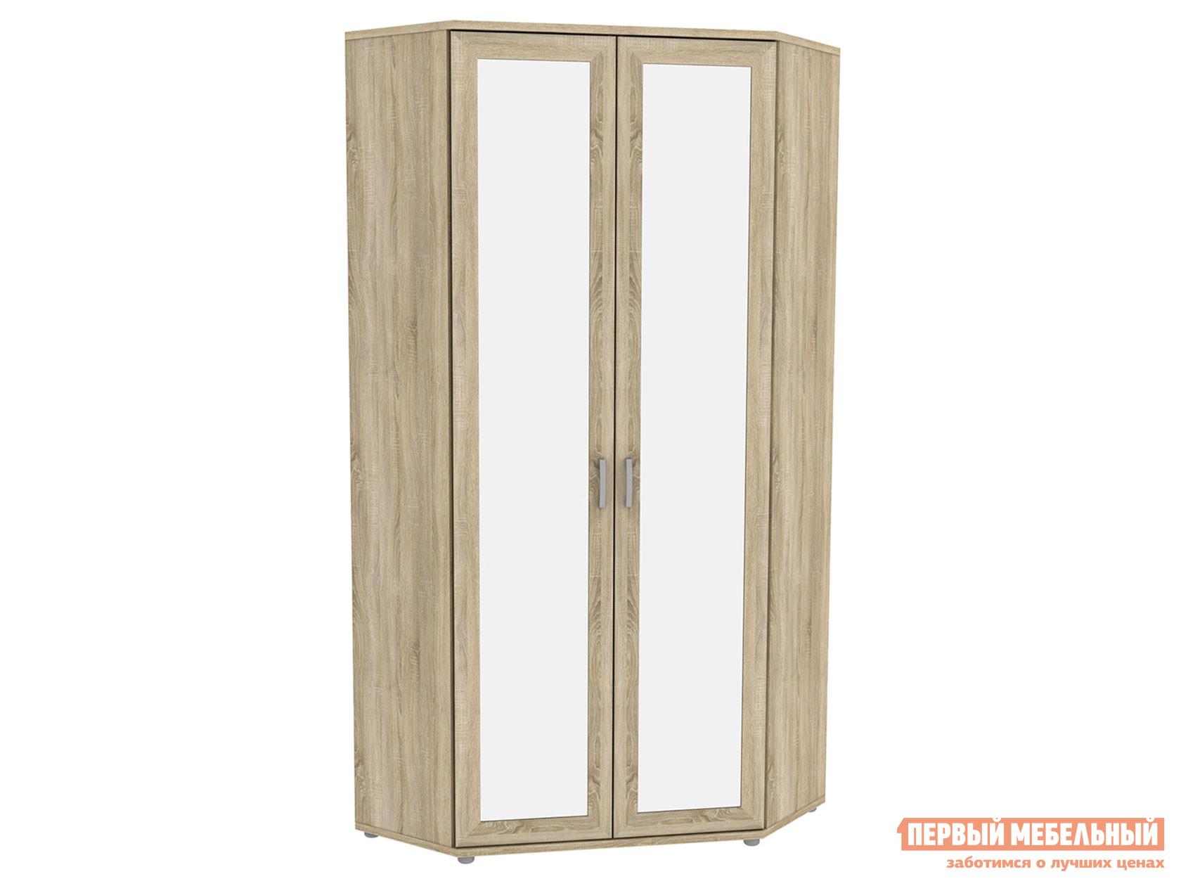 Распашной шкаф  угловой с зеркалами Леруа 533.02 Дуб Сонома Уют сервис 86026