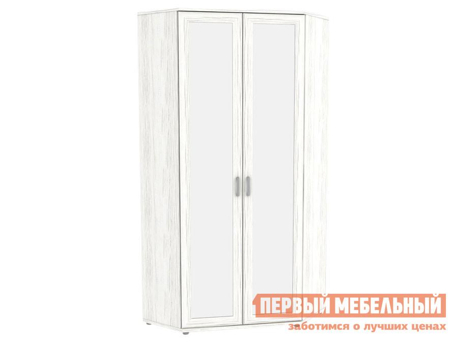 Распашной шкаф  угловой с зеркалами Леруа 533.02 Арктика Уют сервис 135388