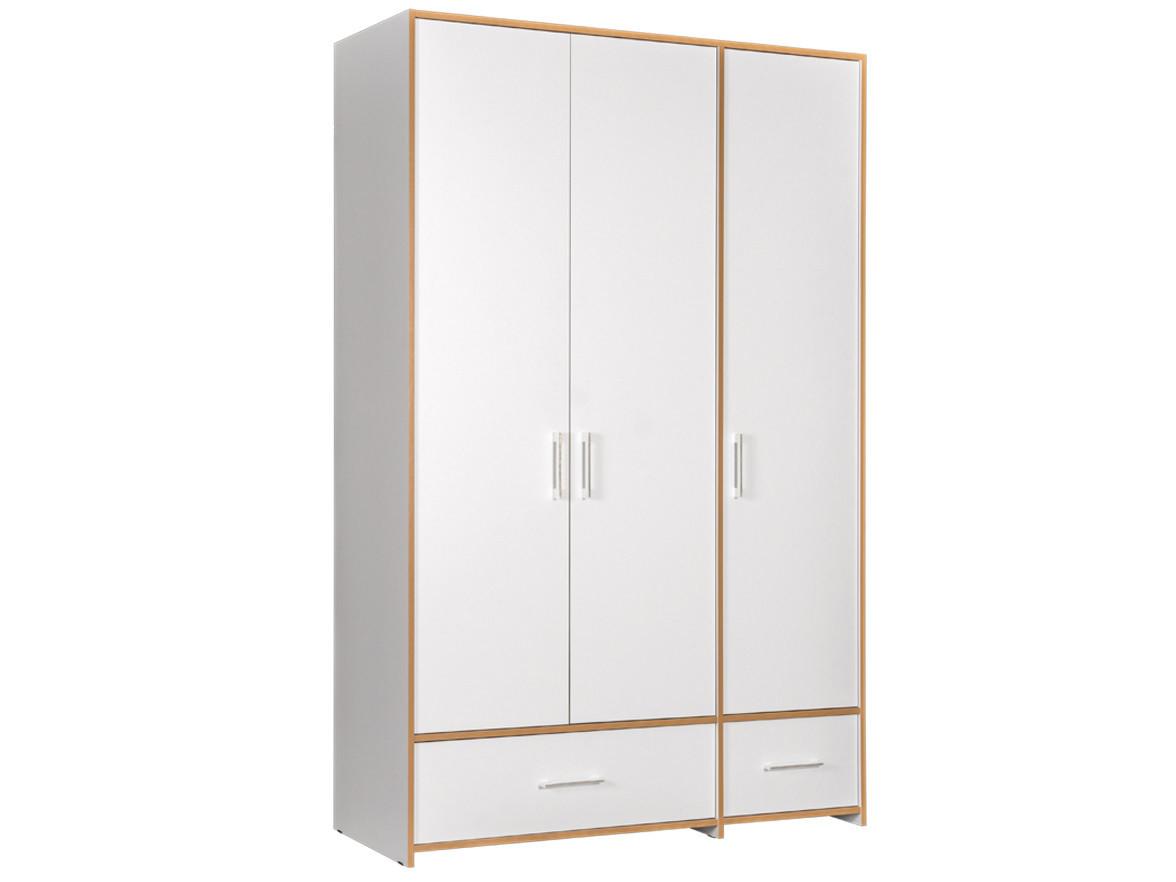 Шкаф детский  3-х створчатый Вуди Дуб золотой / Белый Моби 103213