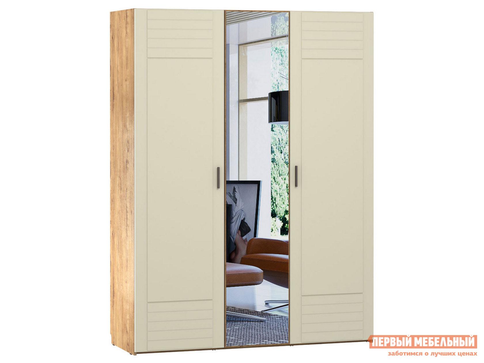 Распашной шкаф Первый Мебельный Шкаф с зеркалом 3-х ств. Ливорно 013.57 распашной шкаф с зеркалом первый мебельный шкаф 3 х дверный с зеркалом парма