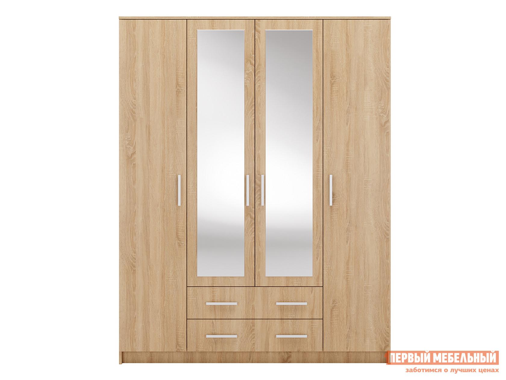 Шкаф распашной Первый Мебельный 4. Айова с зеркалами распашной шкаф первый мебельный тоскана 4