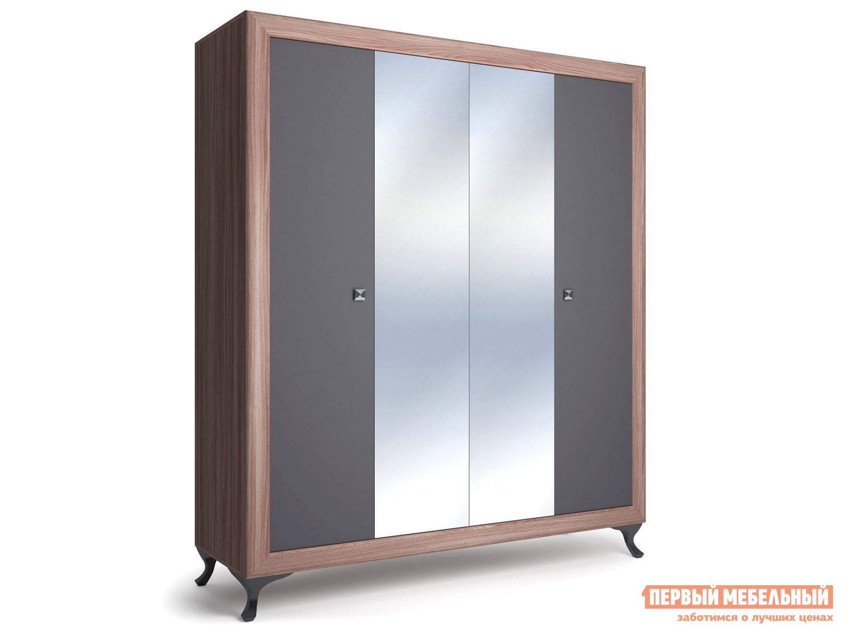 Шкаф распашной Первый Мебельный Шкаф 4-х дверный Модена распашной шкаф шкаф 4 х дверный с доводчиками медея медея