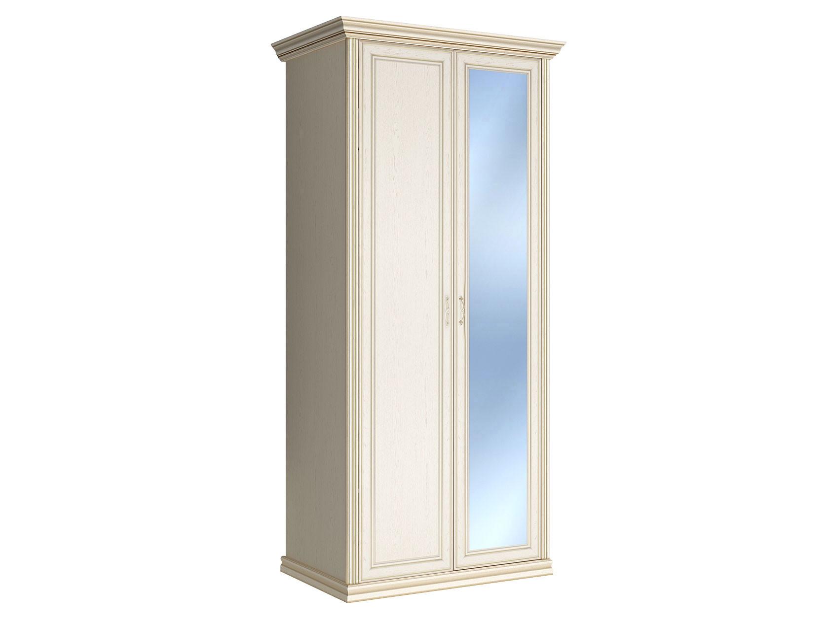 Распашной шкаф с зеркальной створкой Первый Мебельный Шкаф 2-х дверный с зеркалом Венето недорого