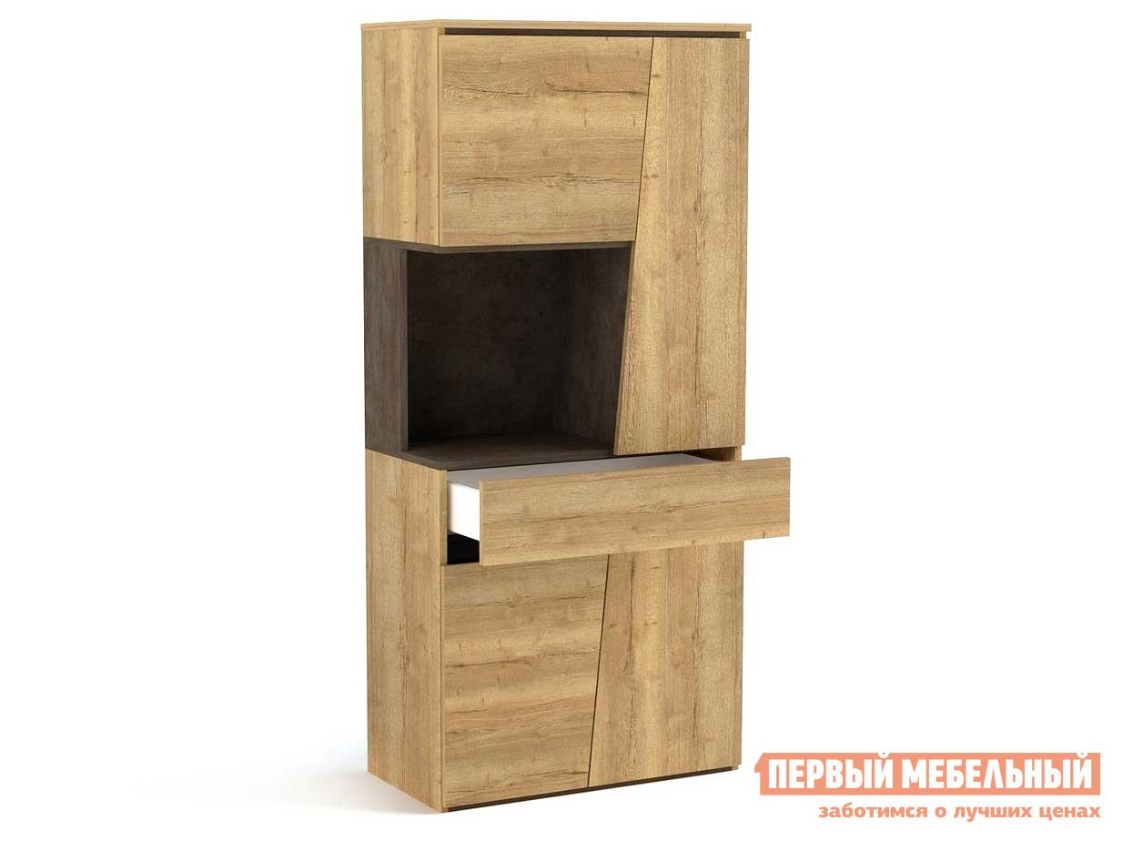 все цены на Шкаф распашной Первый Мебельный Стреза Пенал низкий онлайн