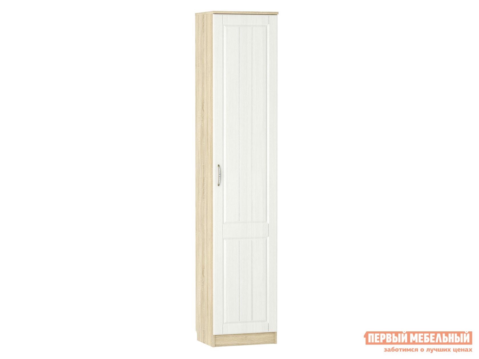 Распашной шкаф  1 дв Оливия НМ 040.43 Ф Дуб сонома / Белое дерево, Правый Сильва 125674