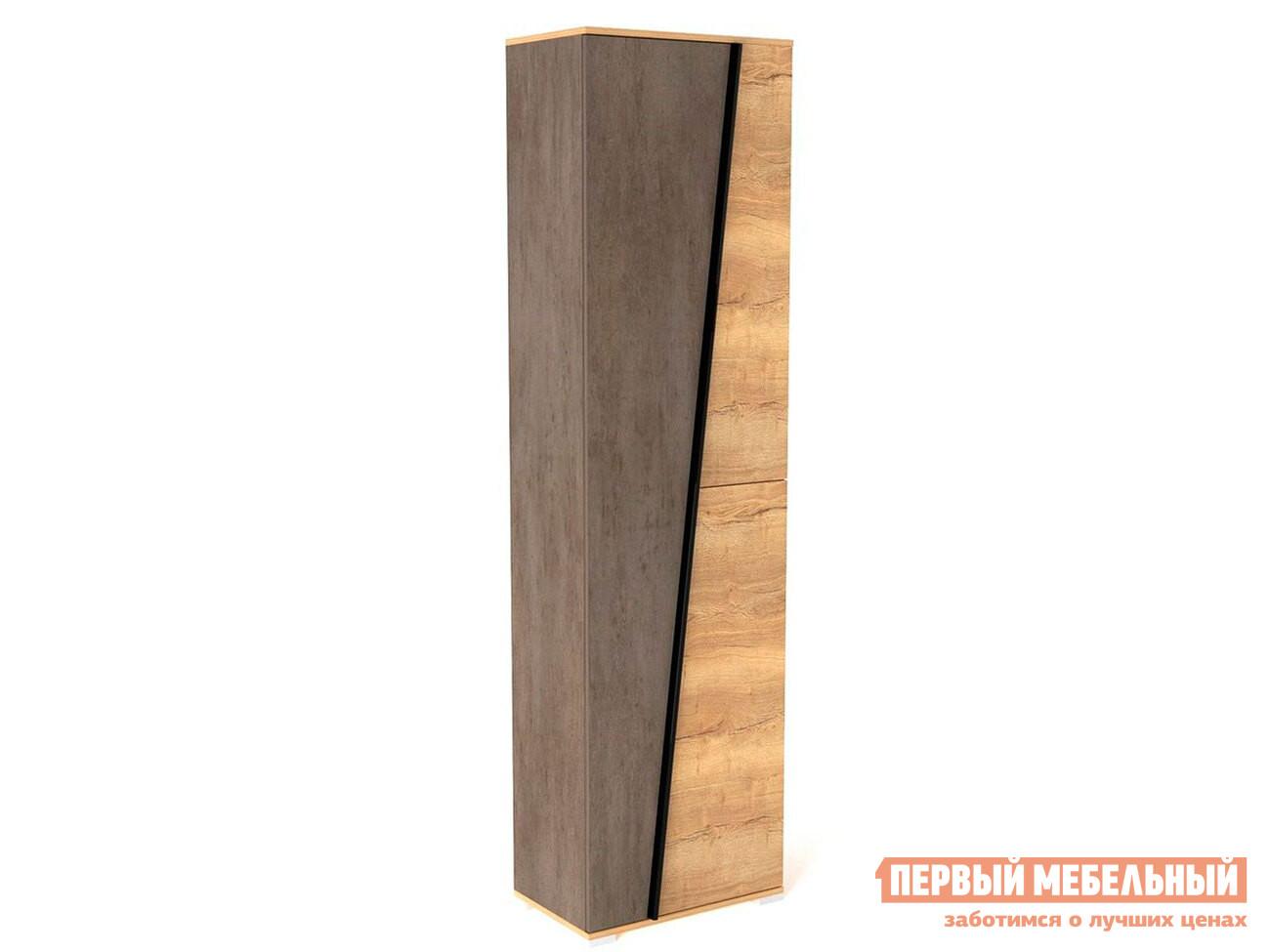 Шкаф распашной Стреза ПС-1 Шкаф для одежды Дуб Галифакс / Бетон Чикаго фото