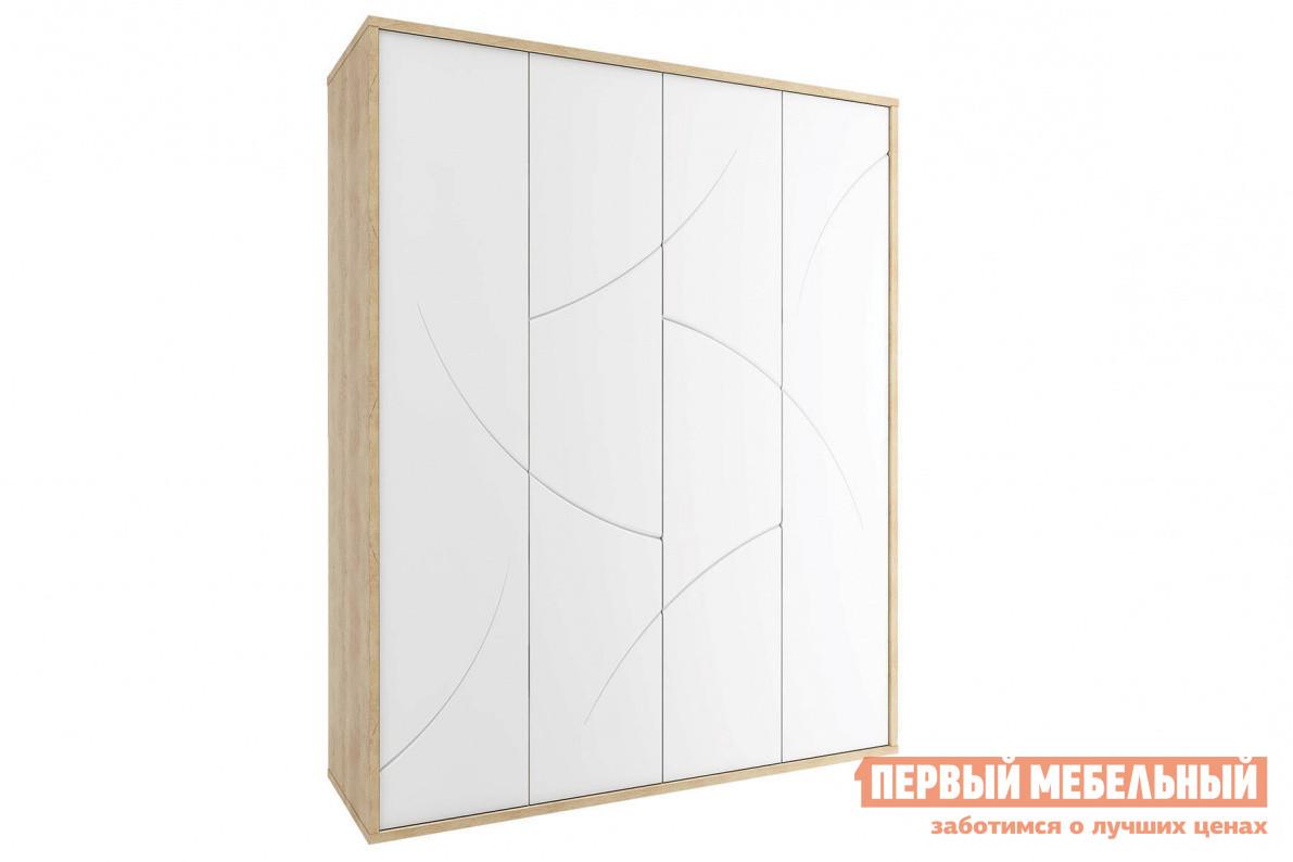 Шкаф распашной 4-х створчатый Первый Мебельный Шкаф 4-х дверный Мадера шкаф мебельный меткон шм 50 серый 50 х 35 х 31 см