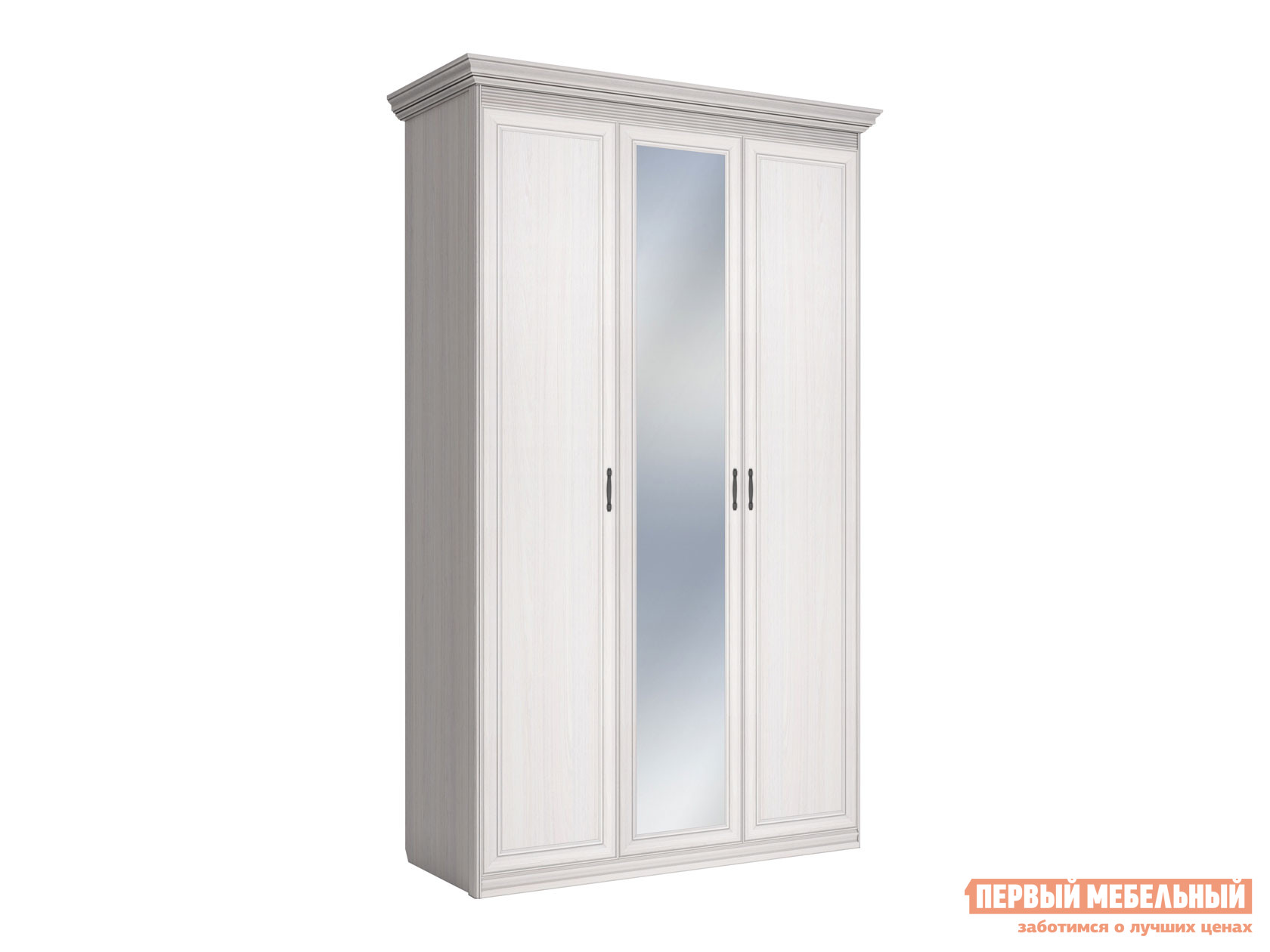 Распашной шкаф Первый Мебельный Шкаф 3-х дверный Неаполь
