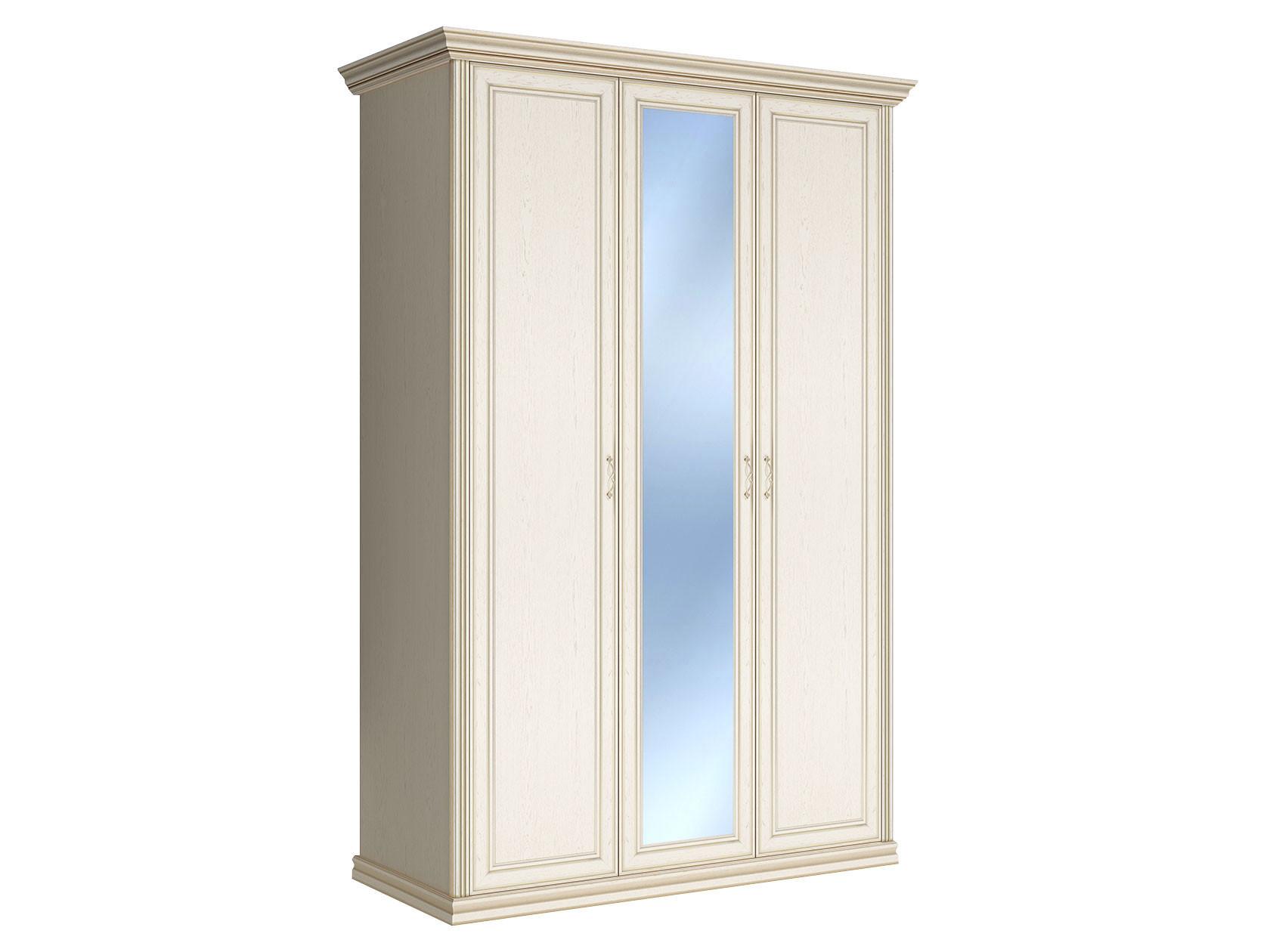 Шкаф распашной Первый Мебельный Шкаф 3-х дверный с зеркалом Венето недорого