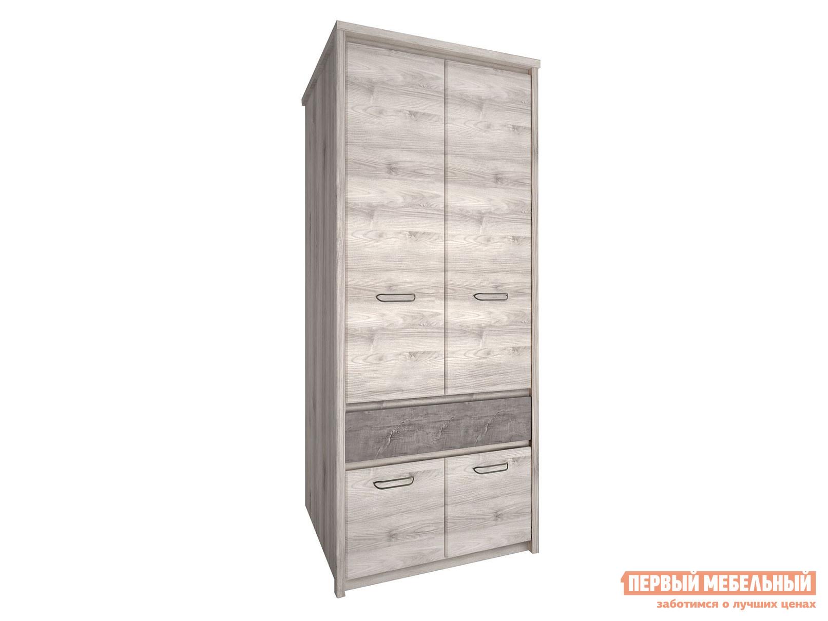 Распашной шкаф  2-х створчатый Джаз Каштан Найроби / Оникс Анрэкс 95223