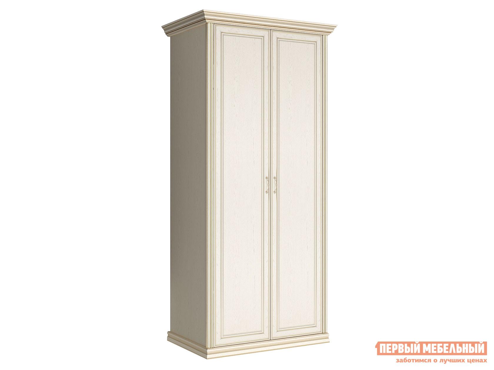 Распашной шкаф  2-х дверный Венето Дуб молочный, Без дополнительных полок КУРАЖ 75665